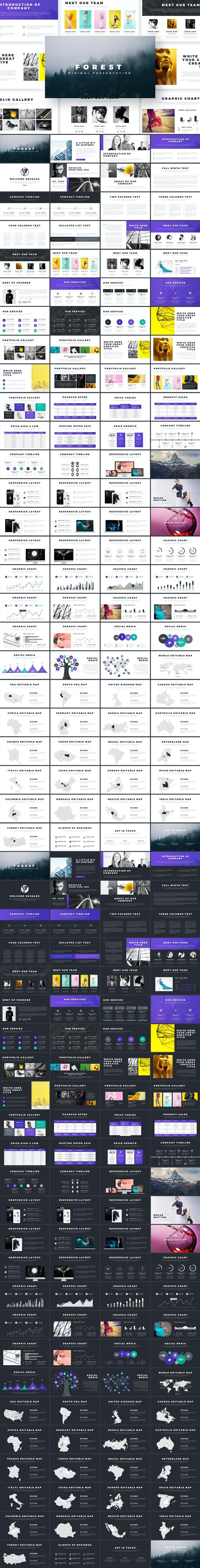 Forest Minimal Google Slides - Google Slides Presentation Templates