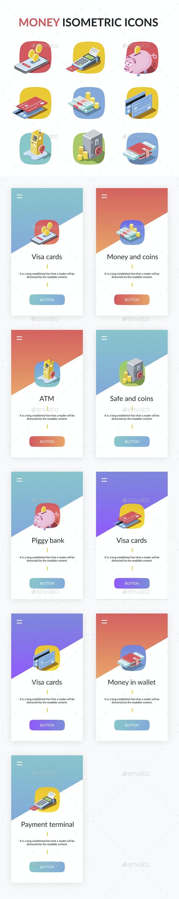 Money Icons Set - Web Icons
