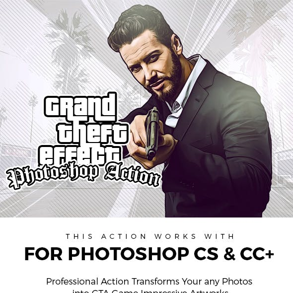 Grand Theft Effect Photoshop Action