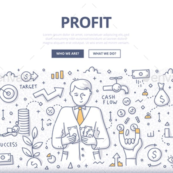 Profit Doodle Concept
