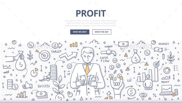 Profit Doodle Concept - Concepts Business