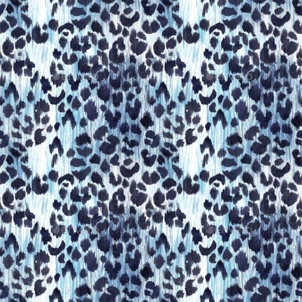 Watercolor Leopard Jaguar Texture Pattern