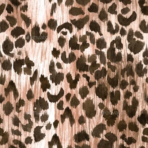Watercolor Leopard Jaguar Texture Pattern - Miscellaneous Illustrations
