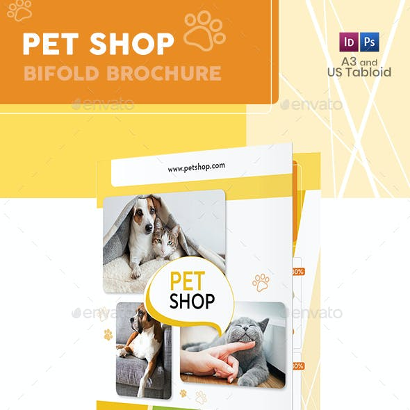 Pet Shop Bifold / Halffold Brochure