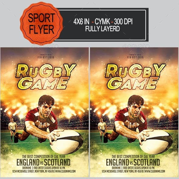 Rugby Game Flyer