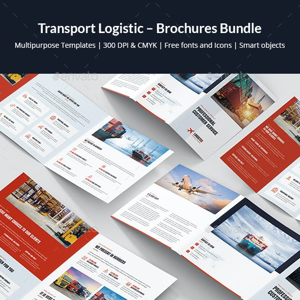 Transport Logistic – Brochures Bundle Print Templates 6 in 1