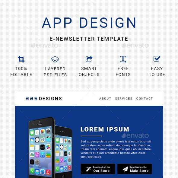 App Design E-Newsletter