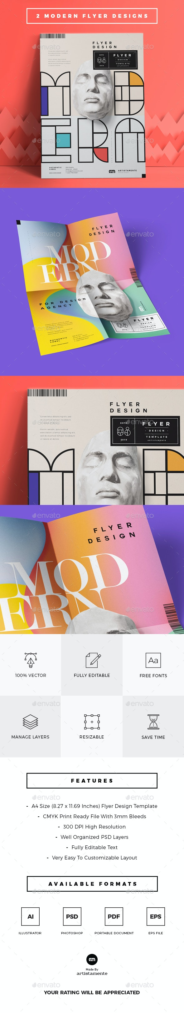 2 Modern Flyer Designs - Miscellaneous Events