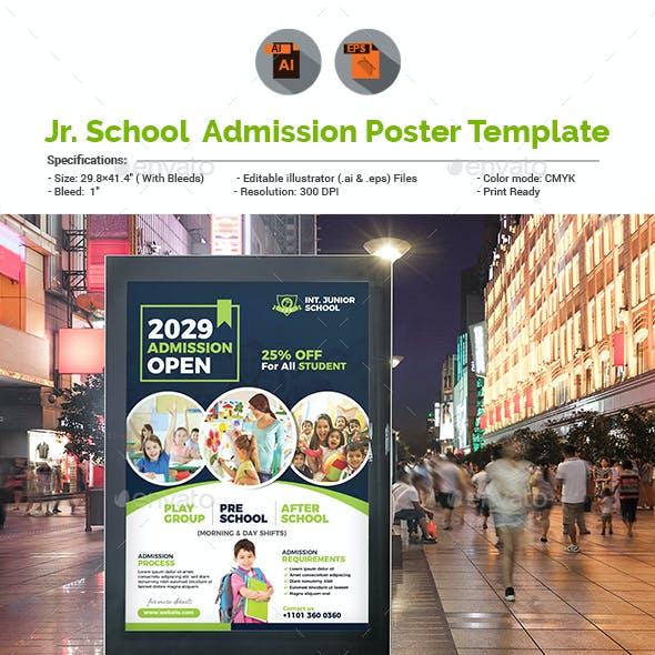 Junior School Admission Poster Template