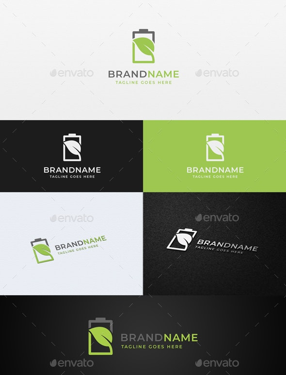 Green Energy Logo Template - Objects Logo Templates