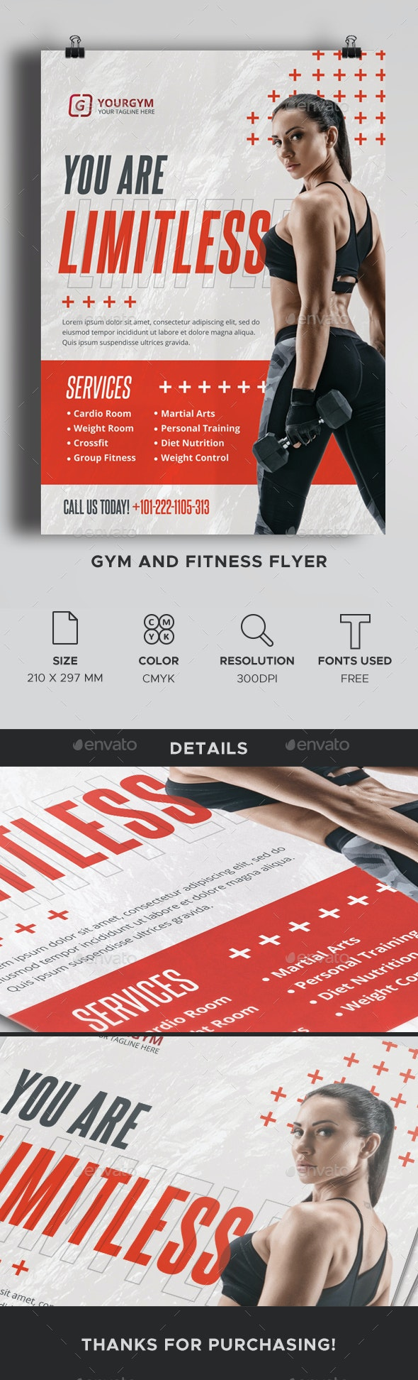 Gym and Fitness Flyer - Corporate Flyers