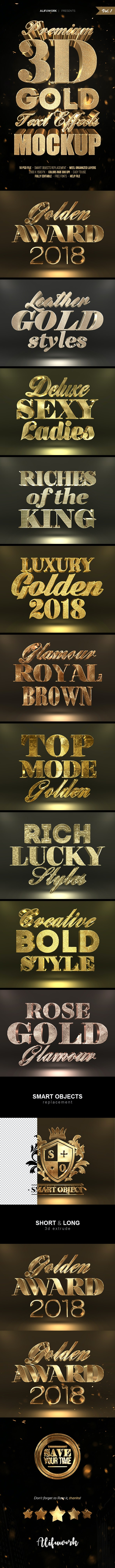 3D Gold Text Effects - Text Effects Styles