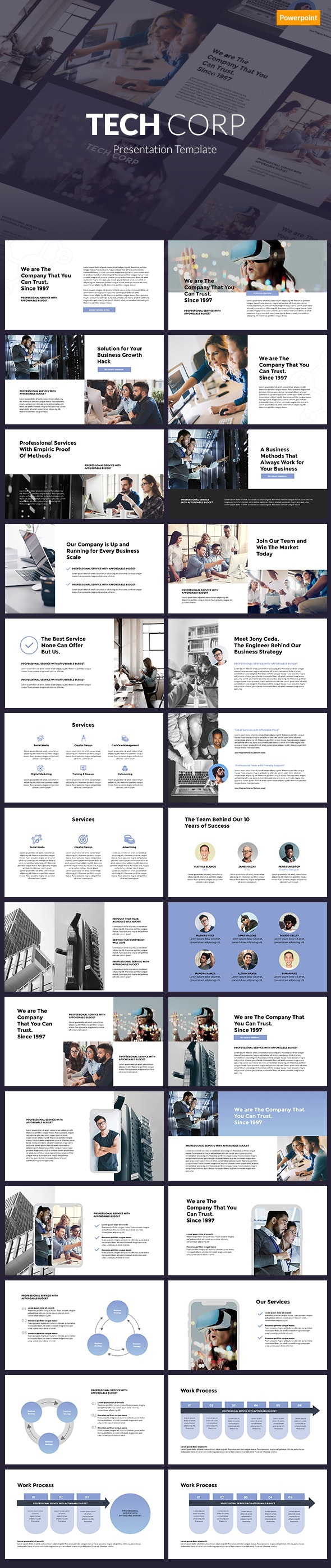 Tech Corp - Powerpoint Template - PowerPoint Templates Presentation Templates