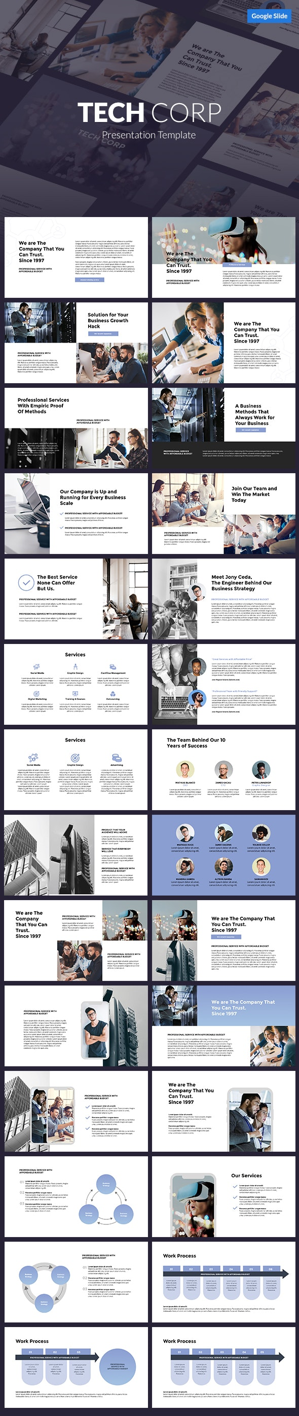 Tech Corp - Google Slides Template - Google Slides Presentation Templates