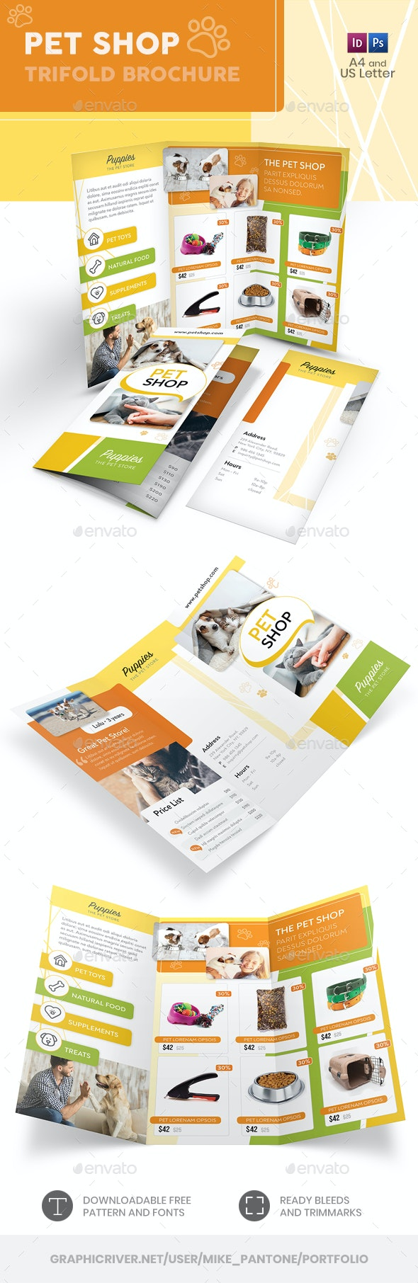 Pet Shop Trifold Brochure - Informational Brochures
