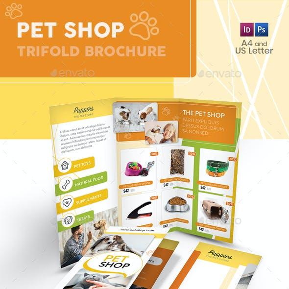 Pet Shop Trifold Brochure
