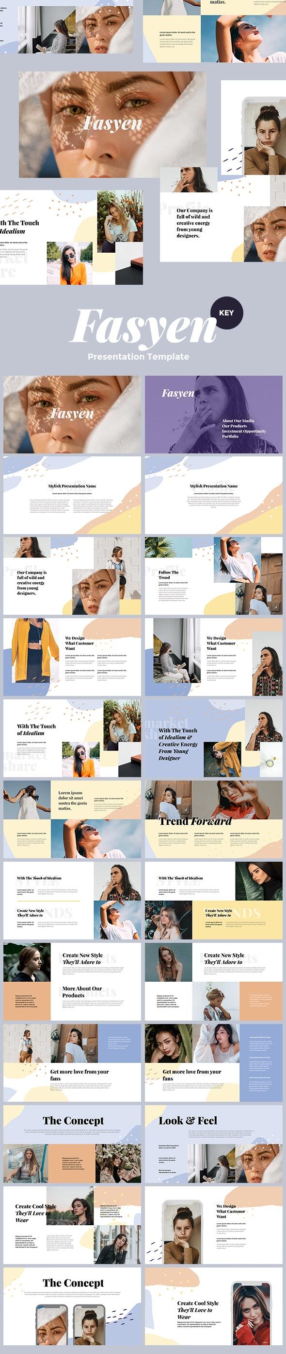 Fasyen - Keynote Template Presentation - Keynote Templates Presentation Templates