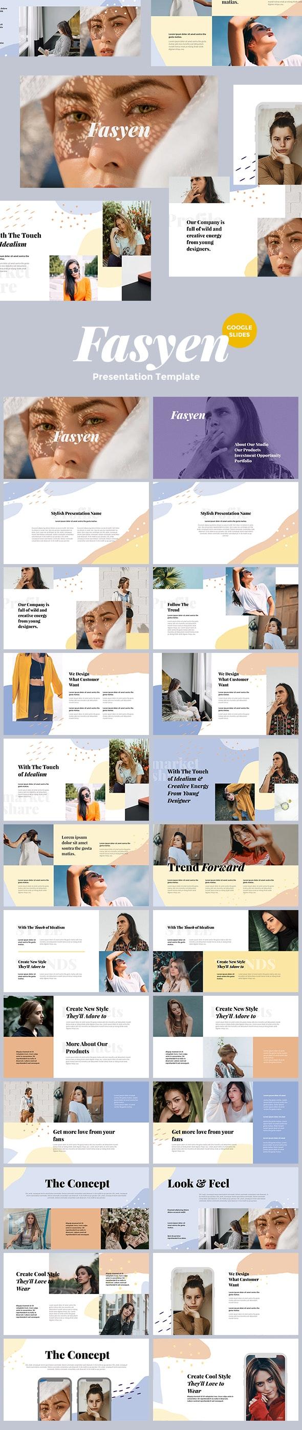 Fasyen - Google Slides Template Presentation - Google Slides Presentation Templates