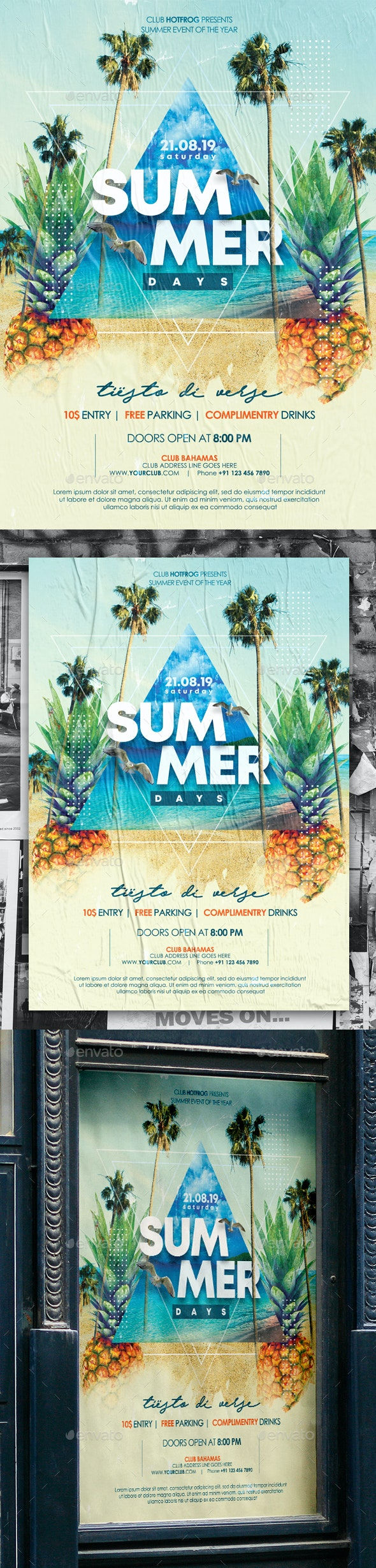 Summer Poster - Events Flyers