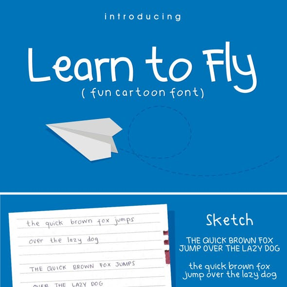 Learn to Fly - Simple Cartoon Font