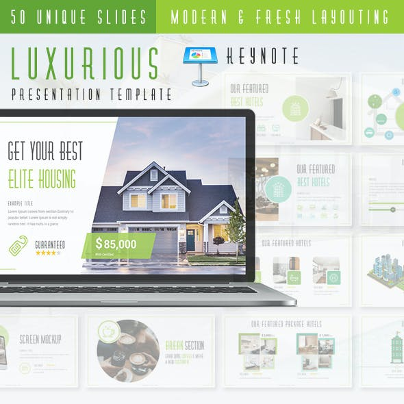 Luxurious - Real Estate Agency Keynote Presentation Template