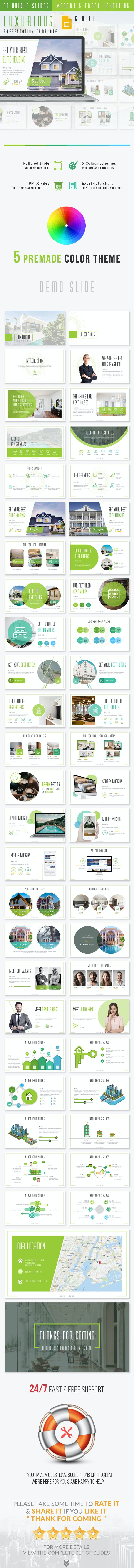 Luxurious - Real Estate Agency Google Slides Presentation Template - Google Slides Presentation Templates