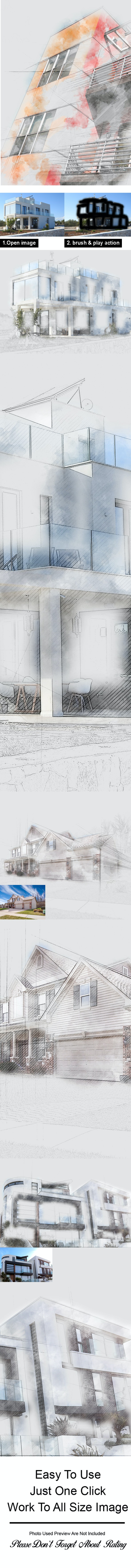Unfinished Sketch Photoshop Action - Photo Effects Actions
