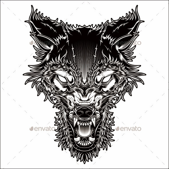 Angry Wolf - Animals Characters