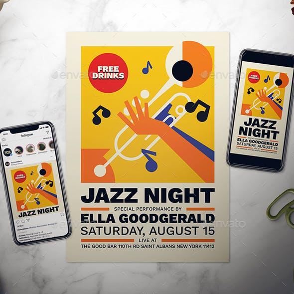 Jazz Night Flyer Set