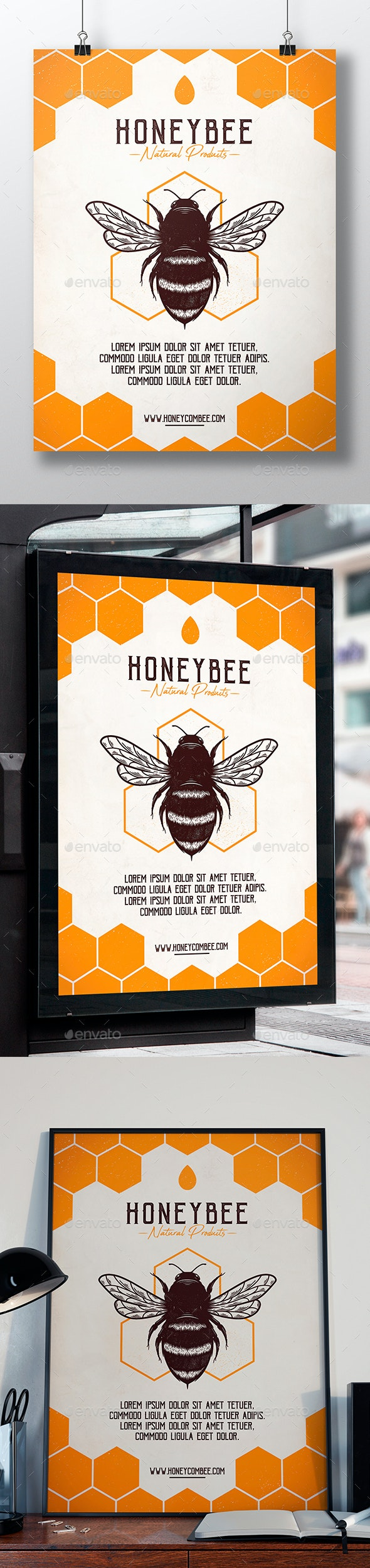 Honey Bee Flyer Template - Miscellaneous Events