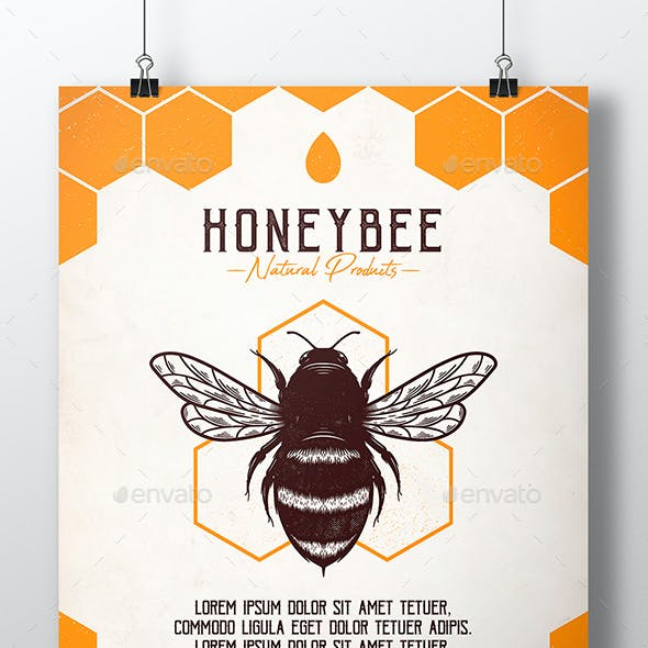 Honey Bee Flyer Template