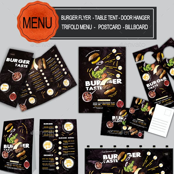 Burger Food Menu Bundle