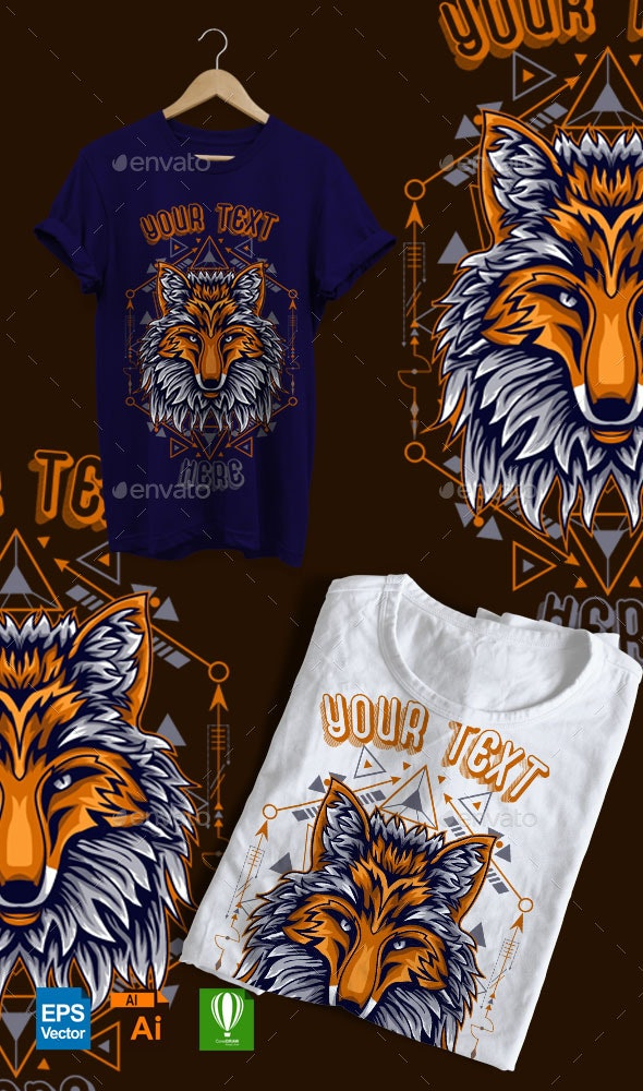 FOX SCARED GEOMETRY - Sports & Teams T-Shirts