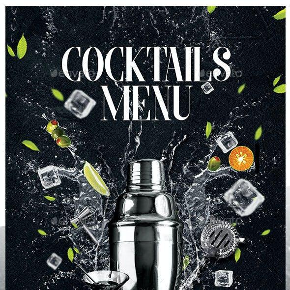 A4 Cocktail Menu