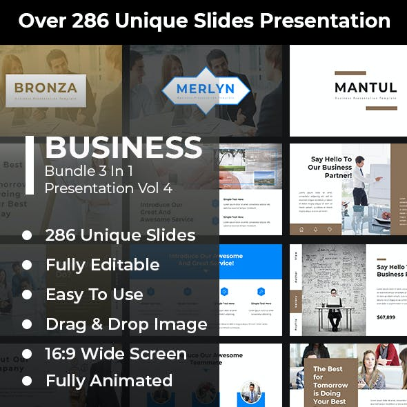 Business Bundle 3 In 1 Google Slides Template Vol 4
