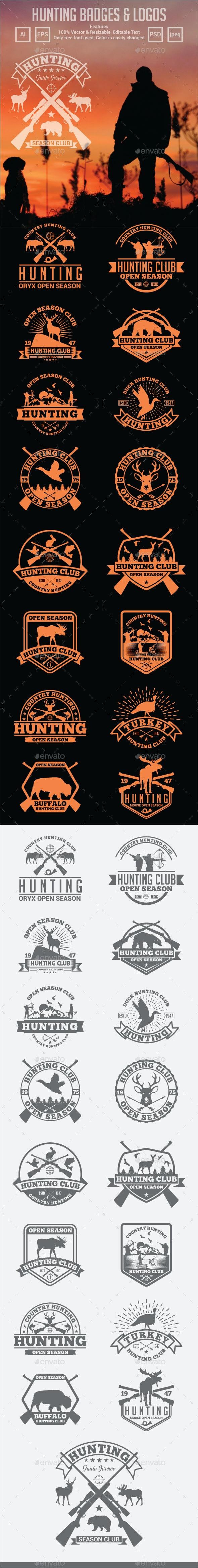 Hunting Badges & Logos - Badges & Stickers Web Elements