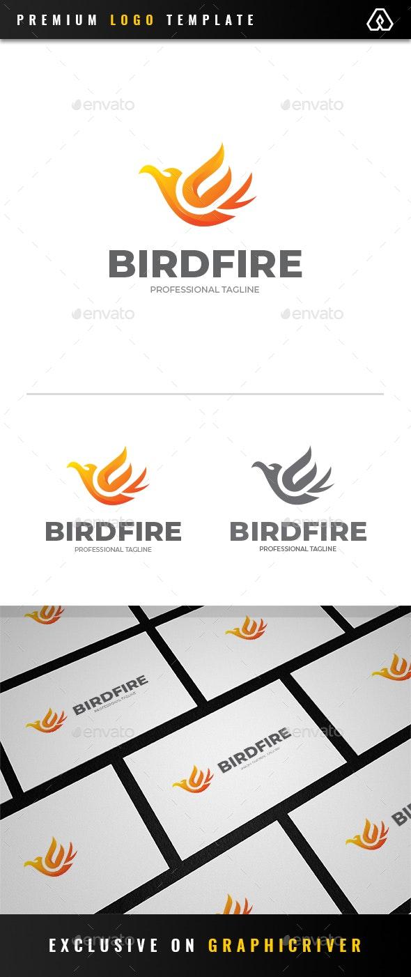 Bird Fire Logo - Animals Logo Templates