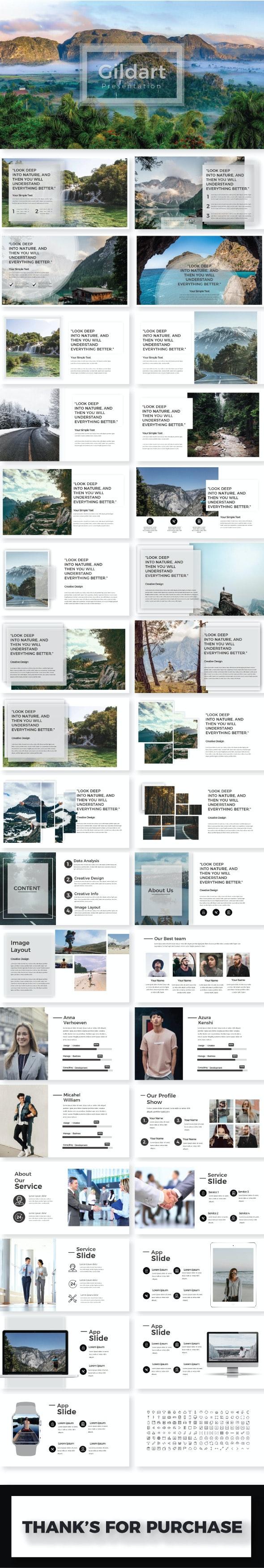 Gildart Google Slide Template - Google Slides Presentation Templates