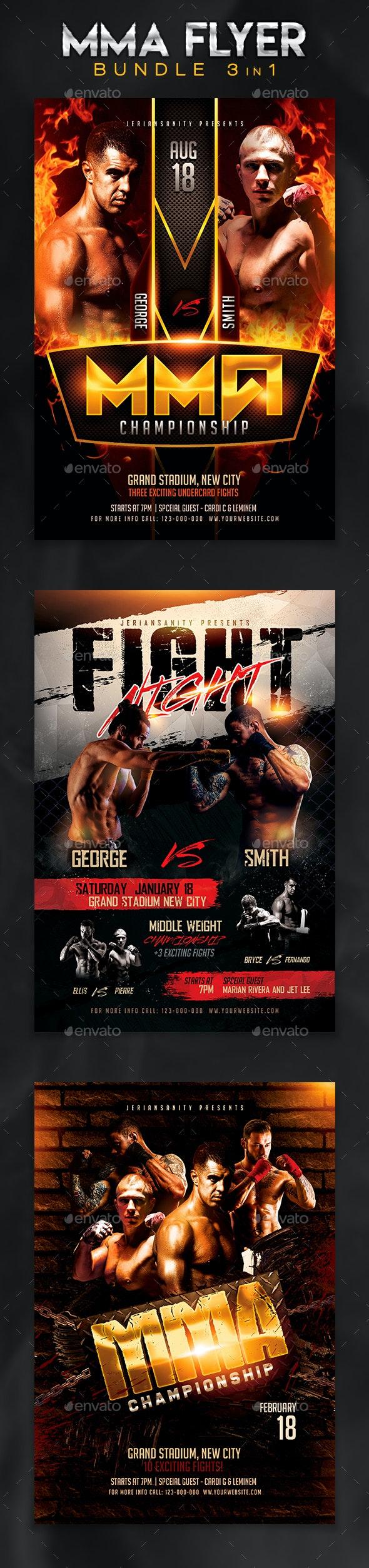 MMA Flyer Bundle 1 - Sports Events