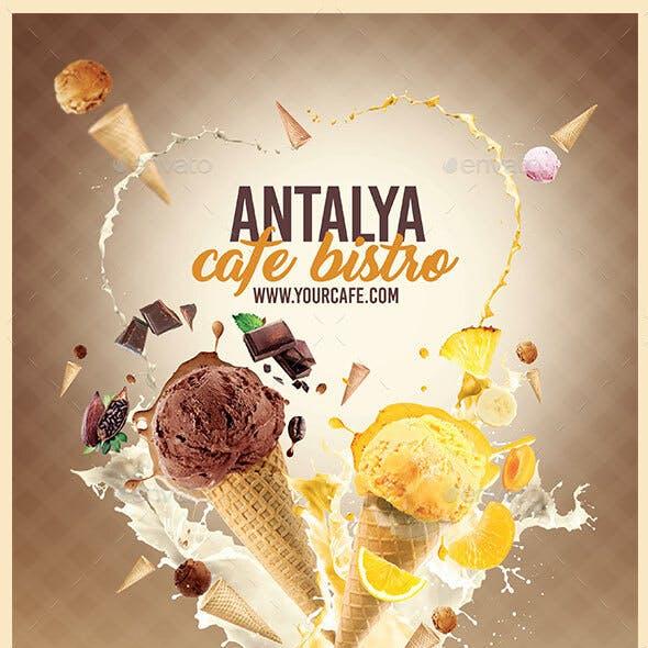 A4 Ice Cream Menu