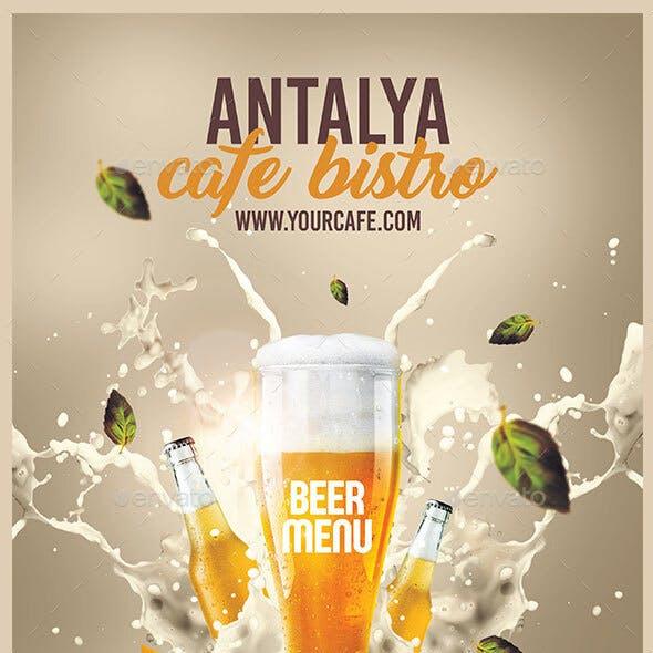 A4 Beer Menu
