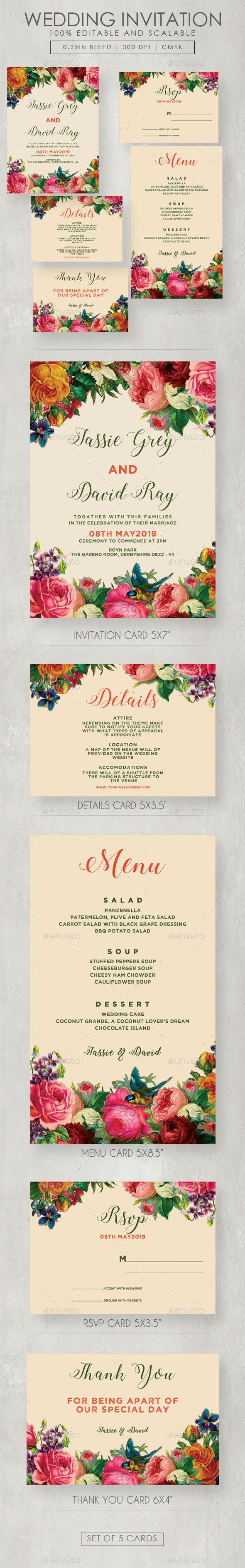 Flourish Wedding Invitation Suite - Weddings Cards & Invites
