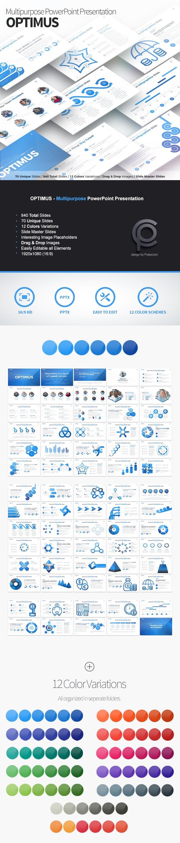 Optimus - Multipurpose PowerPoint Presentation - Business PowerPoint Templates