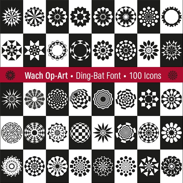 Wach op-art - Dingbat & Vectors