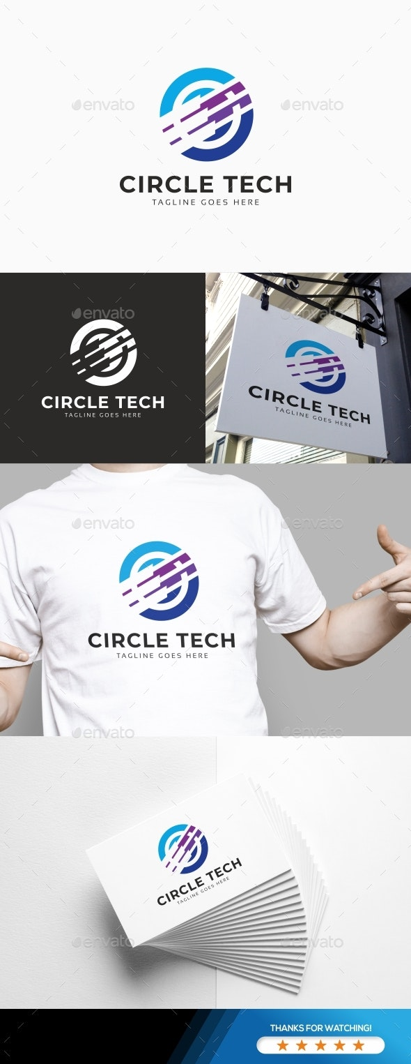 Circle Tech Logo - Symbols Logo Templates