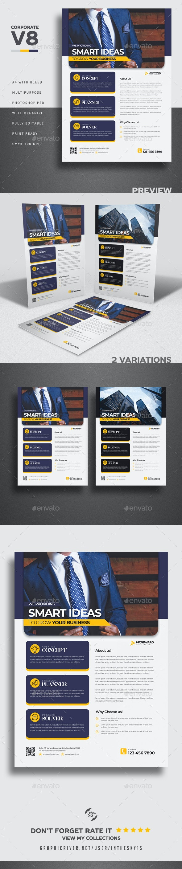Corporate V8 Flyer - Corporate Flyers