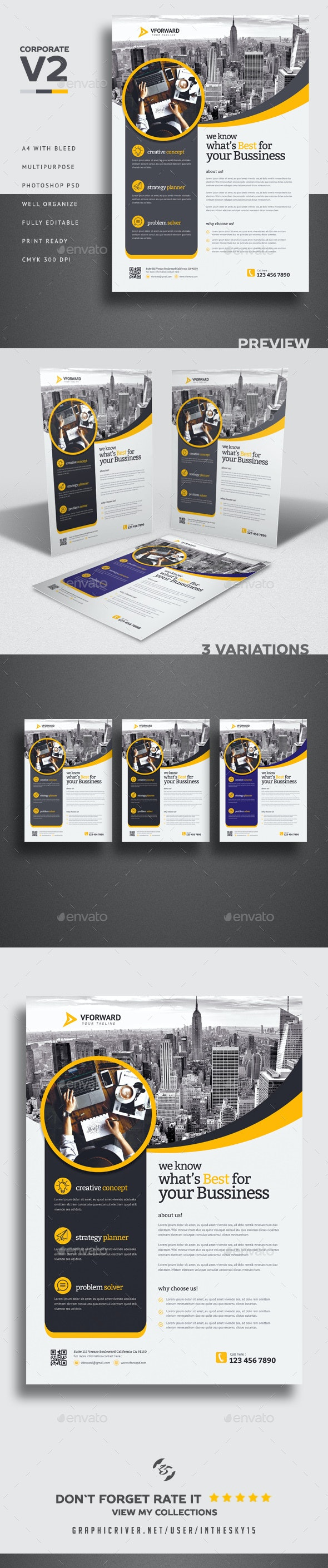 Corporate V2 Flyer - Corporate Business Cards