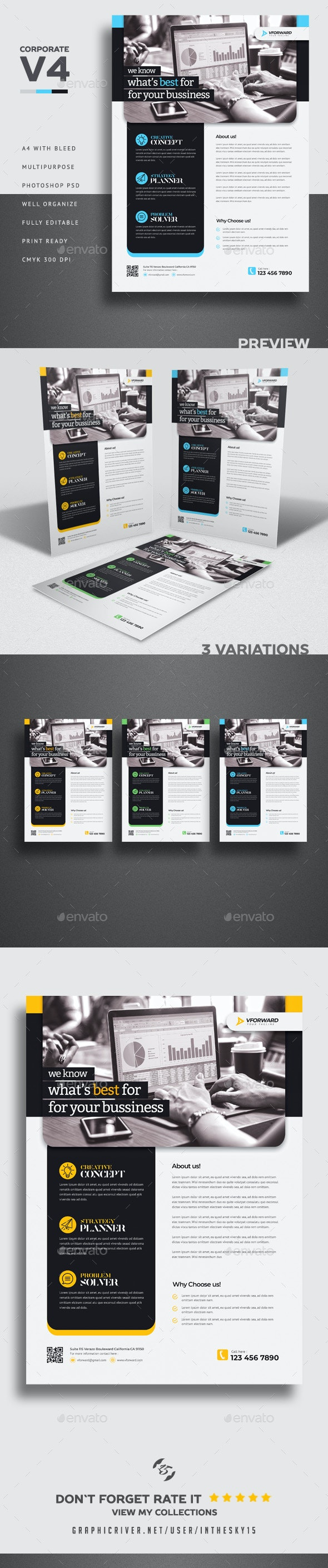 Corporate V4 Flyer - Corporate Flyers