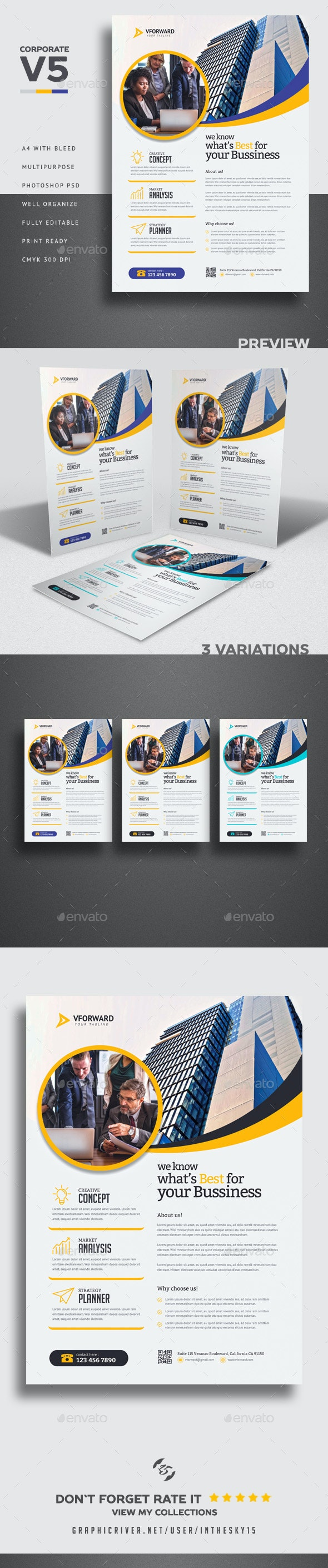 Corporate V5 Flyer - Corporate Flyers