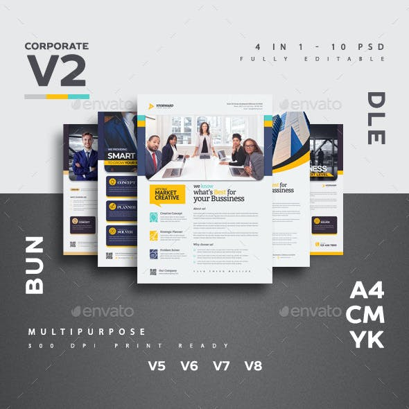 Corporate V2 Flyer Bundle